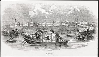 1842年,《伦敦新闻画报》上的版画,描绘了水上浮城的美丽景象。