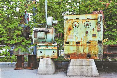 紫坭糖厂的部分老机器。