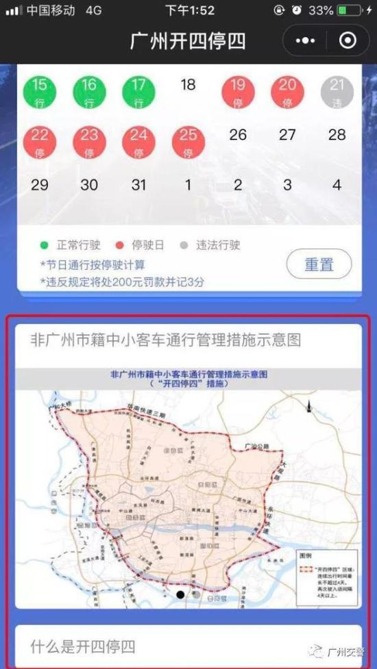 非广州市籍中小客车通行管理措施示意图