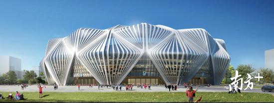 广州恒大新足球场新建筑方案公布 金莲花造型改了