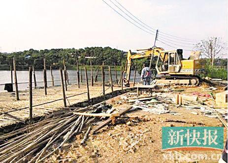 """■化龙镇对涉水""""散乱污""""场所违法建设实施强制拆除。通讯员供图。"""