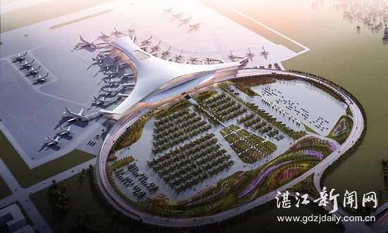 湛江机场迁建工程效果图。 湛江新闻网 图