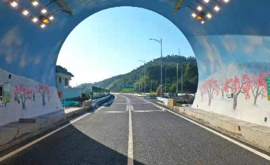 梅州东线其古顶隧道。图片由通讯员提供