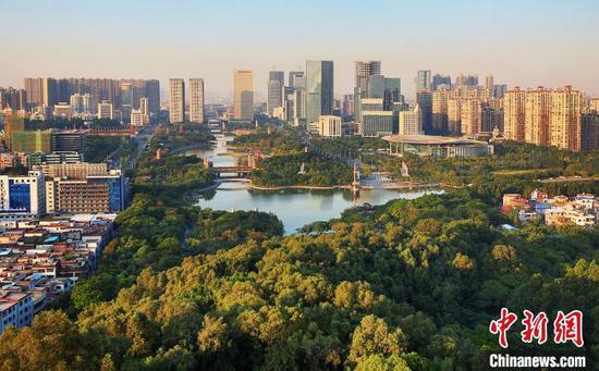 广东城市绿地面积逐年增长(资料图) 广东省林业局 供图
