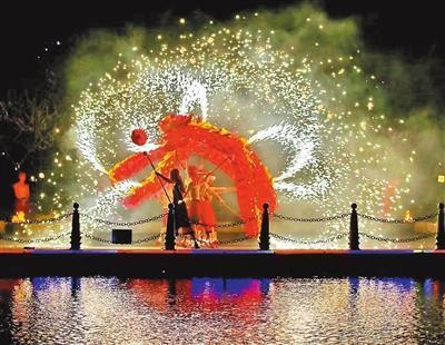 海泉湾重庆火龙钢花表演。 市旅游发展中心供图