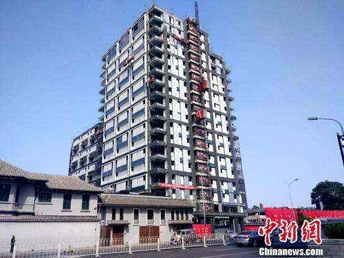 资料图:北京一处正在建设的楼房。中新网记者 李金磊 摄
