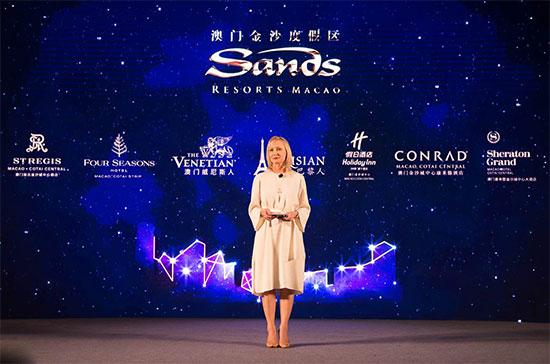 金沙中国有限公司市场推广及品牌管理高级副总裁博露芙在活动上致辞