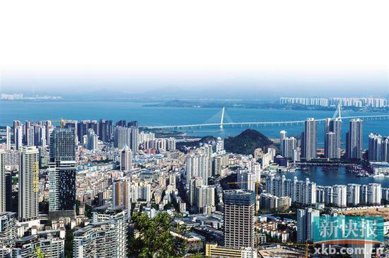 广东自贸区深圳前海蛇口片区内的蛇口片区。新华社资料图