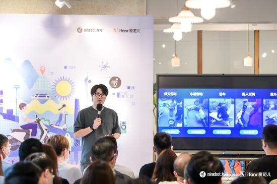 九号电动产品总监张晟乔