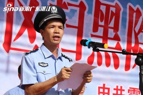 副区长、市公安局霞山分局长李华球发言   陈婷摄