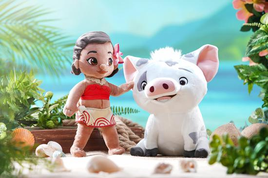 《海洋奇缘》的莫阿娜与好友系列毛公仔