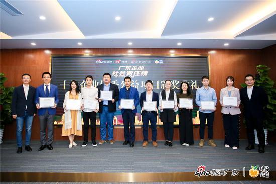 十家获奖企业代表合影