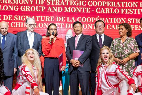 摩纳哥公国公主斯蒂芬妮期望双方合作能让马戏得到更好的发展
