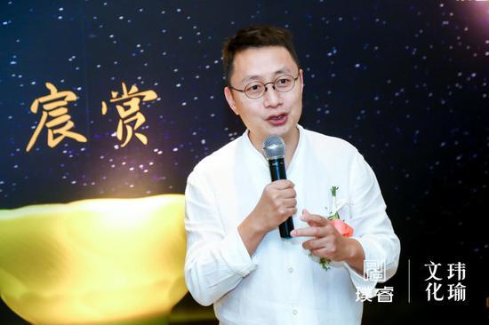 璞睿品牌创始人兼首席设计师刘丞翰先生为展览致辞