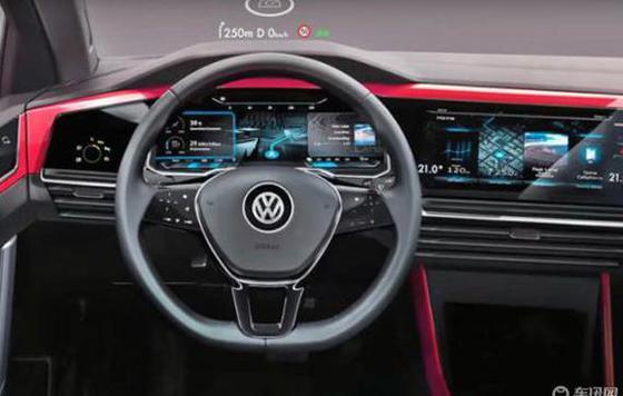 大众Golf 8采用双屏座舱设计 明年6月量产
