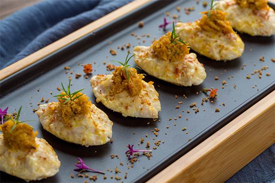 蟹粉生煎琵琶豆腐