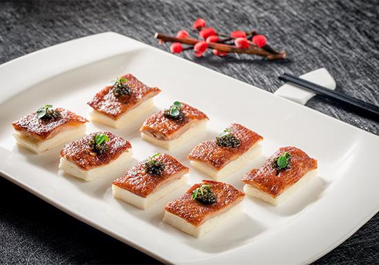 卡露伽鱼子酱川式甜皮鸭