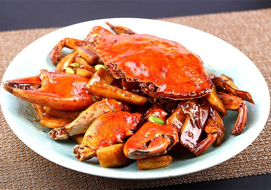 面酱毛豆肉蟹