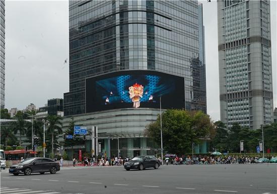 CBD闹市现醒狮 首个非遗裸眼3D真人秀亮相广州