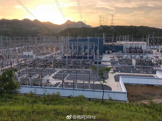 西电东送工程。图片来源南方电网集团
