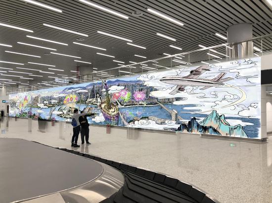 在航站楼里画画 白云机场第二届主题涂鸦大赛征稿启动