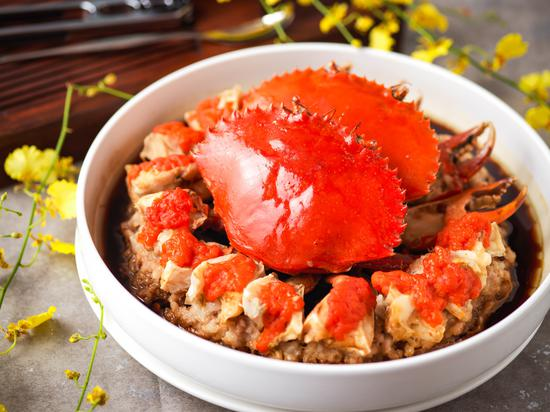 油醋汁黑豚肉蒸膏蟹