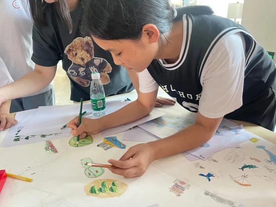 童眼看阳江——海陵岛艺术导览图公益创投项目实施