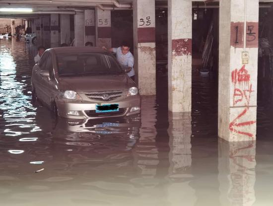 """平安产险广东分公司""""施救""""受水淹车辆"""
