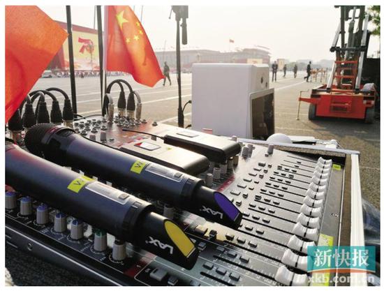 今年国庆阅兵仪式上音响保障团队来自广州番禺