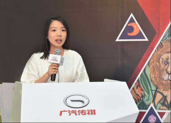 项目艺术顾问虞萱萱代表艺术家分享艺术创意