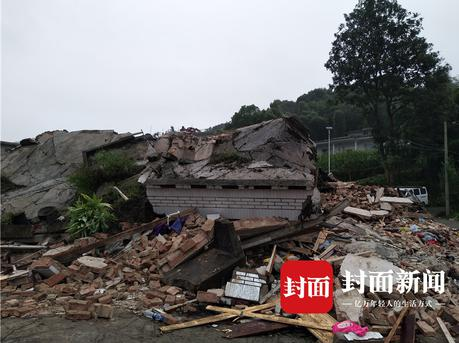 航拍宜宾地震:7岁男孩遇难