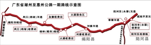 潮惠高速一期月底通车