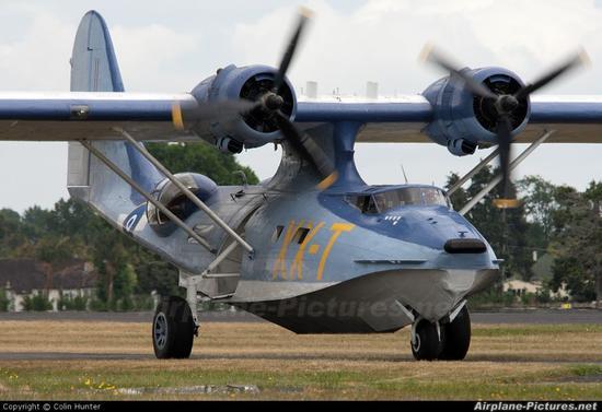 """把美军的pby""""卡特琳娜""""水上飞机改成了豪华私人飞机"""