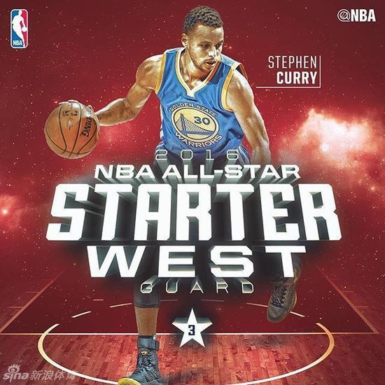 2016赛季NBA全明星首发阵容出炉 科比荣登票