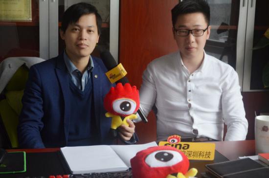 酷浪CEO宋志聪接受新浪深圳科技采访