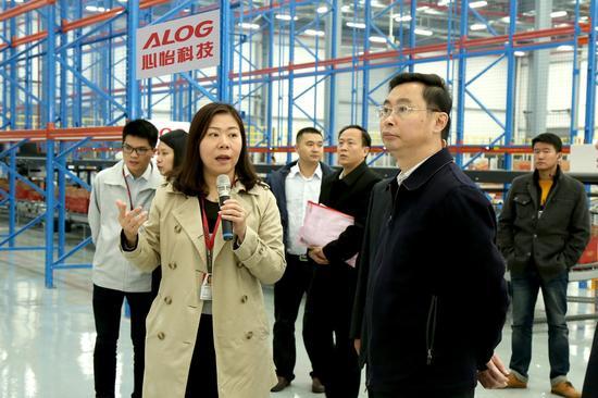 广州市长温国辉调研心怡科技自动化仓