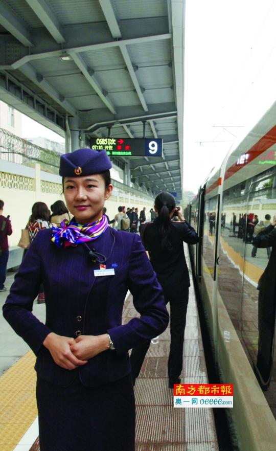 昨日,广佛肇城际铁路开通运营首日首趟列车体验,有乘客表示票价再便宜点就好了。广佛肇城际铁路清明前后余票多。南都记者 高贵彬 摄
