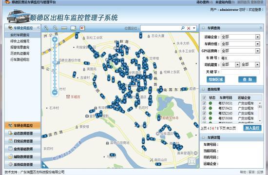道道通智能后视镜基于安卓系统,拥有智能语音、一键导航、行车记录、ADAS、电子云狗、远程监控等众多功能的一体化产品,可实现微信定位、3G网络联网、在线查询等车联网服务。   二、车辆监控与管理平台   1、公交车管理平台   通过综合运用GPS、GIS、无线网络、通信网关、数据共享平台等先进技术,实现对车辆的具体位置、运行线路、行车速度、停车时间及停车地点、里程统计等的24小时实时监控管理,从而节约企业运营成本,提高用车效率。同时,通过与政府部门的信息共享和互动,可以实现多种营运车辆的统一监管,从而规