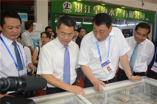湛江市委副书记、市长王中丙和全国工商联副主席田全海现场视察指导