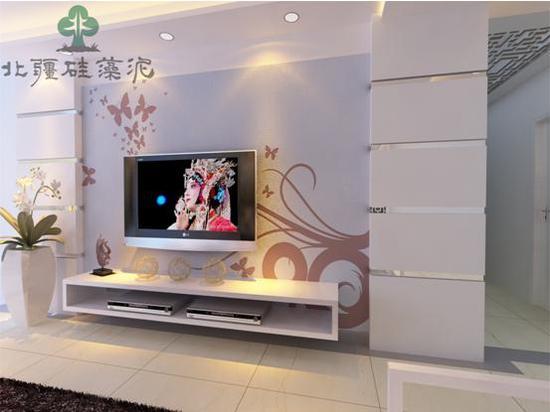北疆硅藻泥怎么样 电视背景墙刻花工艺产品