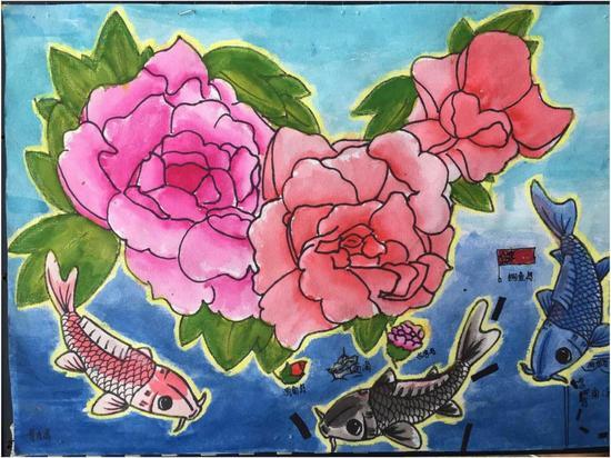 """第三届""""美丽中国""""全国少儿手绘地图大赛惠州赛区经过在新浪专题网页"""