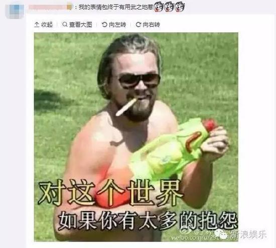 小李子莱昂纳多开微博 网友刷表情包欢迎_新浪广东图片