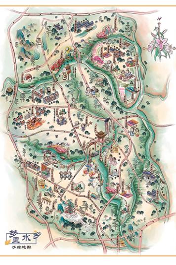 梦里水乡手绘地图