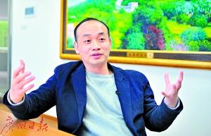 全国人大代表、深圳南岭村党支部书记张育彪。
