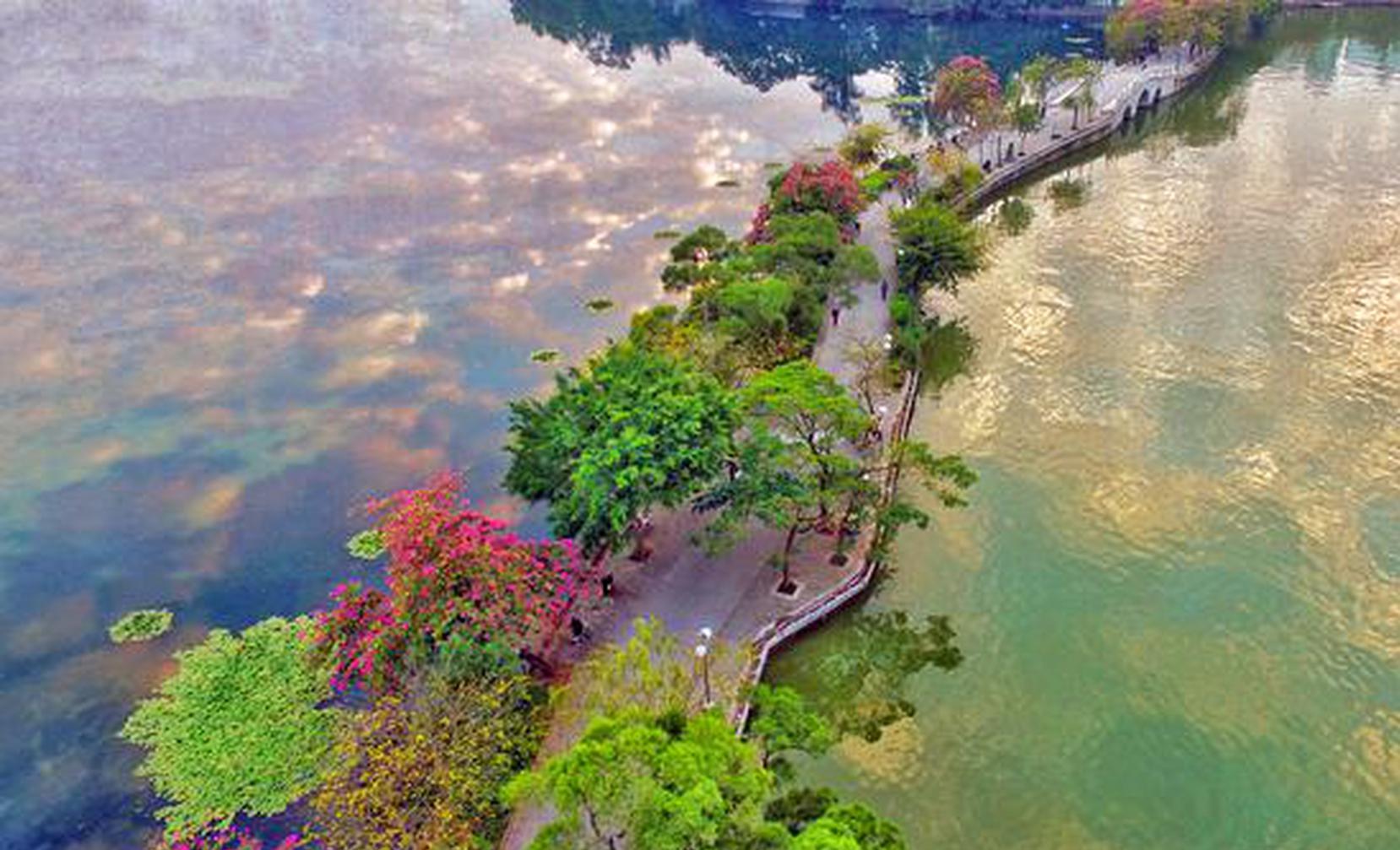 惠州西湖风景名胜区航拍图
