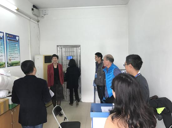 闵乐萍局长、张涛纪检组长视察考点保密工作