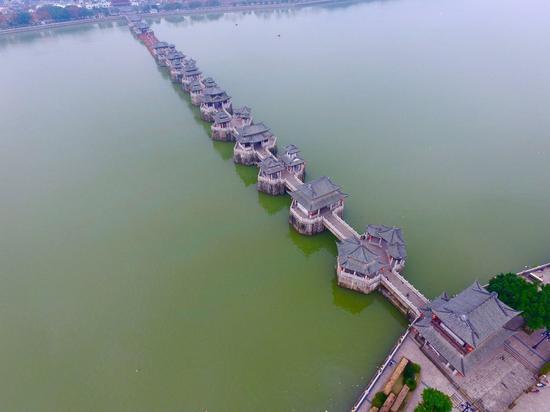 航拍广济桥 摄影by 蓝远峰