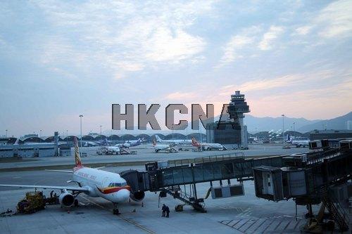 图:香港国际机场。来源:香港中通社