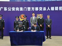 广东警方向澳门移交1名杀人嫌犯 该男在中山落网