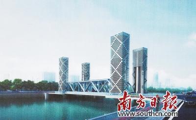 光明大桥效果图。南方日报记者 肖雄 翻拍